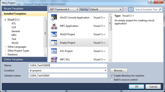 How to Run CUDA In Visual Studio 2010 | The GPU Blog